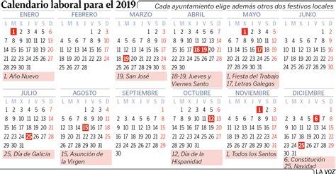 el calendario laboral del permitira hasta ocho puentes