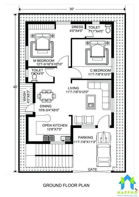 floor plan     feet plot  bhk  square feet sq    house plans