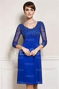robe courte pour mere du marie a manche dentelle persunfr With robe pour mère du marié