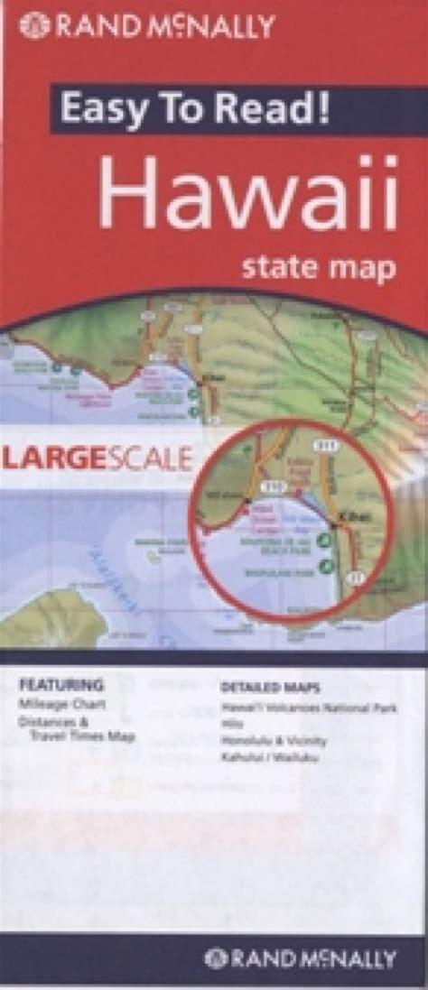 rand mcnally hawaii travel map maps