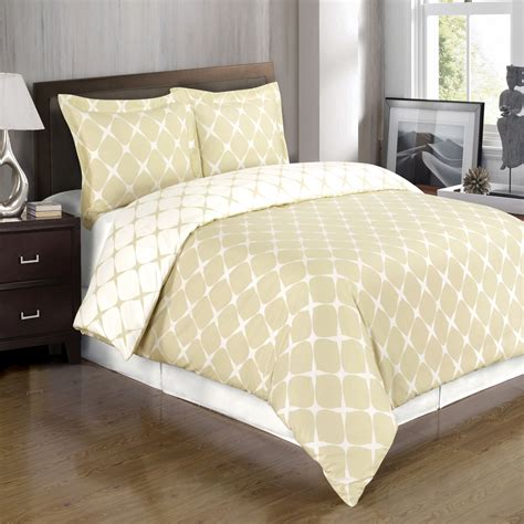 bloomingdale beige and ivory duvet cover set free shipping