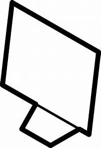 Computer Screen Outline clip art Free Vector / 4Vector
