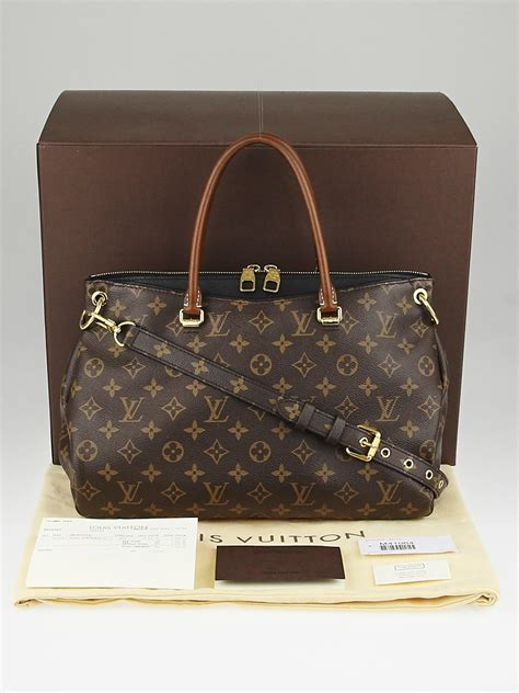 louis vuitton black monogram canvas pallas bag handbags