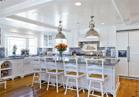 Kitchen Bay Window Seating Ideas - beach house california dreamin in ocean blue white