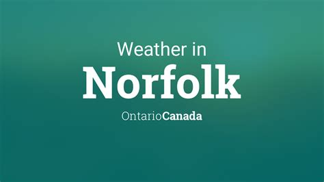 weather  norfolk ontario canada