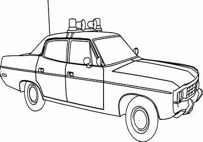 Police Coloring Pages Truck Suv Printable Drawing