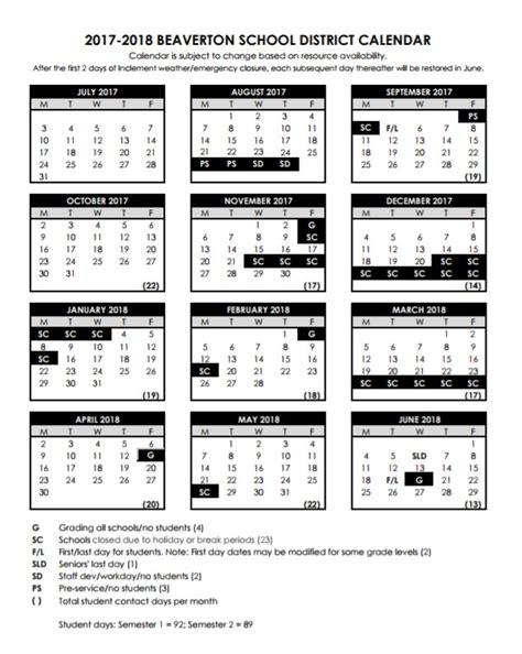 calendar cooper mountain pto