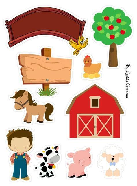 bolo granja fazendinha farm topo para imprimir zenon fazenda toppers animal cake menino party theme celeiro birthday bolos tia