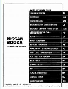 Nissan 300zx Model Z32 Series 1994 Service Manual  Sm4e