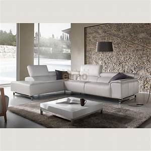 canape d39angle blanc canape italien cuir pas cher en With meuble tv cuir center