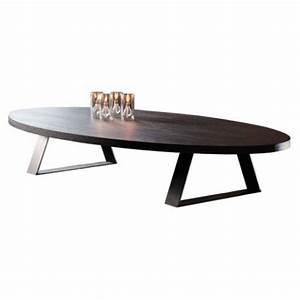 Table Basse Ovale Blanche : table basse ovale blanche cool table basse ovale en verre plateaux with table basse ovale ~ Teatrodelosmanantiales.com Idées de Décoration