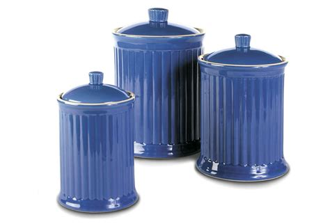 blue kitchen canister set 3 pc canister set blue kitchen from one epic