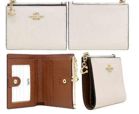 Bright coral co ated canvas with white bunny print. Coach Snap Card Case F73867 - Luxe Paradise