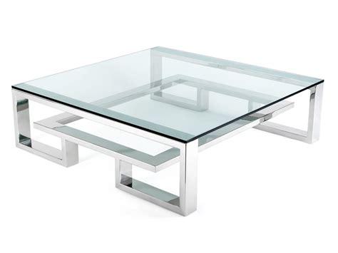 table basse en verre carr 233 e id 233 es de d 233 coration