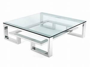 Table Basse Verre Et Acier : table basse acier et verre id es de d coration int rieure french decor ~ Teatrodelosmanantiales.com Idées de Décoration