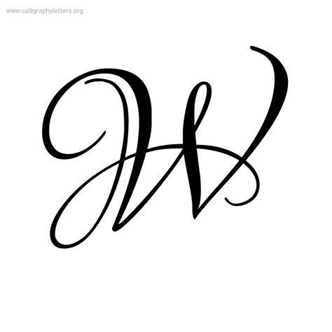7 Best Images Of Fancy Script Letter W  Fancy Calligraphy