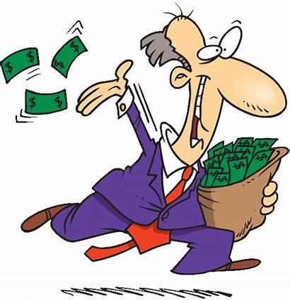Money Clipart Spending Waste Away Marketing Wasting