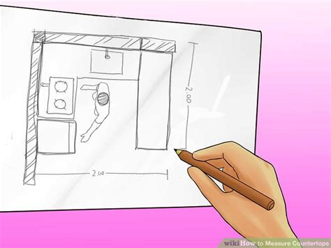 how to measure countertops 4 ways to measure countertops wikihow