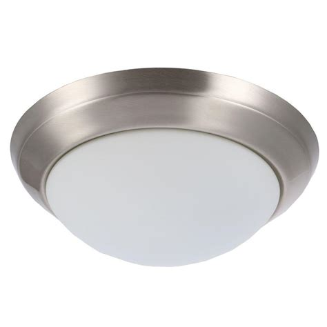 home depot flush mount ceiling light fixtures hton bay 2 light brushed nickel flush mount 05246 the