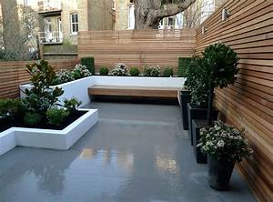 Modern london garden london garden design for White garden walls