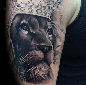 Tattoo Löwe Arm : 50 l we mit krone tattoo designs f r m nner k nigliche ink ideen big cats pinterest ~ Frokenaadalensverden.com Haus und Dekorationen