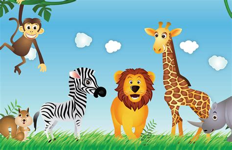 Childrens Animal Wallpaper - animals wallpaper mural muralswallpaper co uk