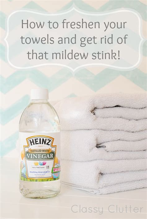 how to freshen your towels and get rid of that mildew