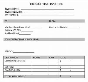 consulting hours invoice template denryokuinfo With consulting hours invoice template