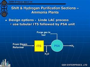 Water Gas Shift  U0026 Hydrogen Purification Section Flowsheet