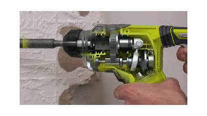Sds Drill Hammer Ryobi R18sds Cordless Electric
