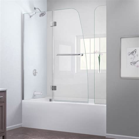 tub shower doors bath authority dreamline aqua frameless hinged tub door