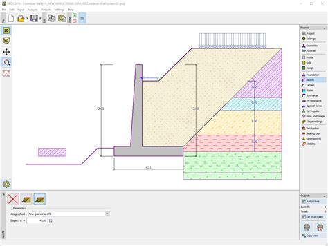 wall design software cantilever wall geotechnical software geo5 fine