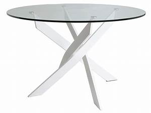 Table Ronde 140 Cm : table ronde 140 cm ruth coloris blanc chez conforama ~ Teatrodelosmanantiales.com Idées de Décoration