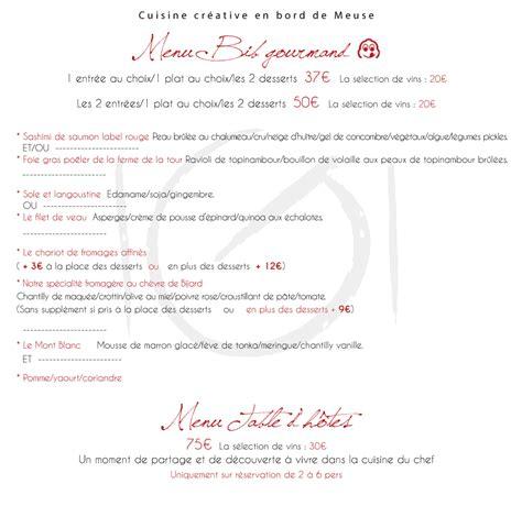 menus et carte pour la cuisine d un gourmand restaurant 224 profondeville