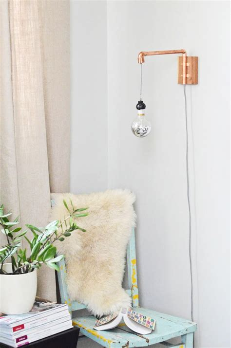 diy wall sconce transformed copper pipe wall sconce camille styles