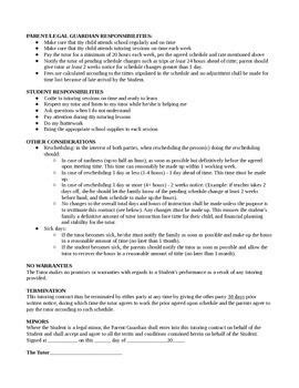 Private Tutoring Contract Template | Tutoring business, Resume examples, Administrative