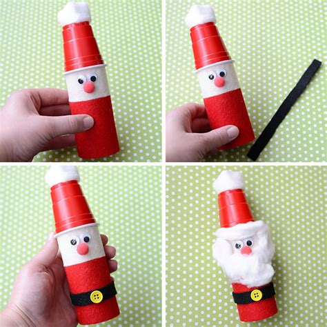 christmas crafts with toilet rolls craft for toilet paper roll santas play cbc parents