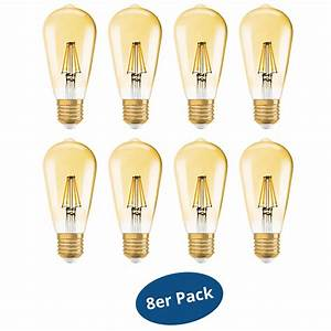 Osram Edition 1906 : 8er pack osram led lampe edition 1906 e27 6 5w edison 51w warm white dimmable ~ Eleganceandgraceweddings.com Haus und Dekorationen