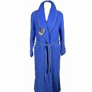 robe de chambre femme laine des pyrenees bleu pas cher en With robe de chambre facon laine des pyrenees