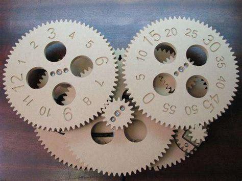 constructable timepieces  diy gear clock   rainy