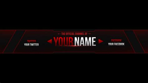 Descargar Youtube Banner Template by Youtube Banner Template Psd Cyberuse