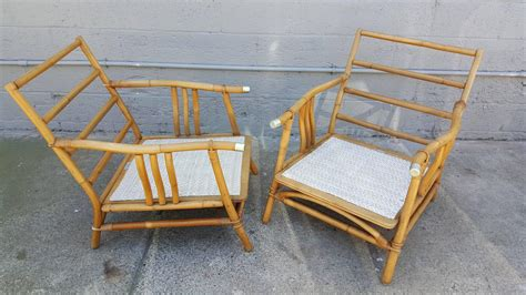 Ficks Reed Lounge Chair by Ficks Reed Rattan Lounge Chairs At 1stdibs