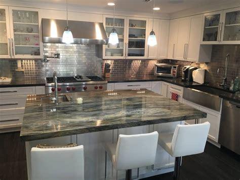 modern kitchen countertop stone design  santos