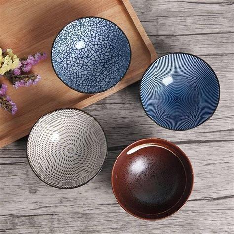 japanese bowls dinnerware porcelain ceramic dinner traditional rice 5inch 300ml gift centerpiece piece box