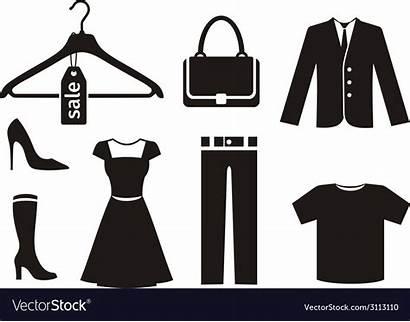 Icon Clothes Ropa Clipart Kleidung Negro Schwarz