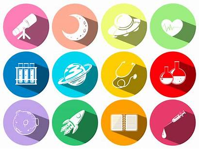 Symbols Technology Science Buttons Vector Graphics Space