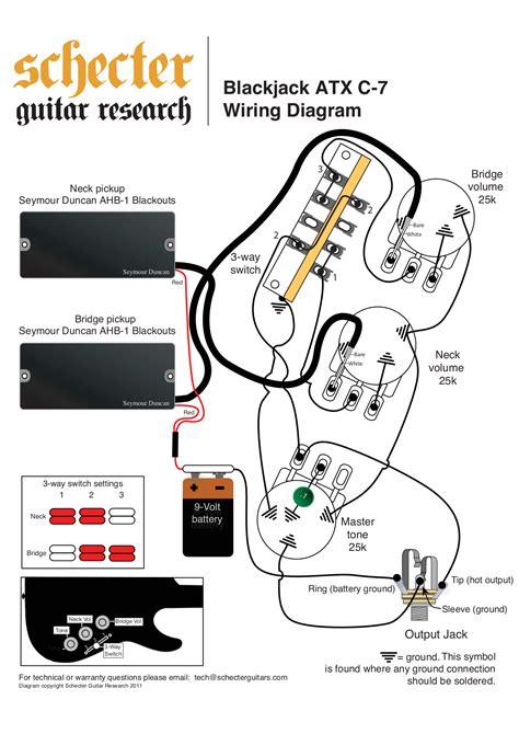 schecter 6 custom wiring diagram 37 wiring diagram