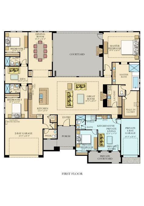 3475 next by lennar new home plan in griffin ranch belmont 3 car garage house plans and