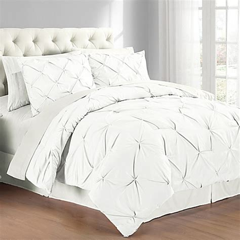 bed bath beyondcom buy pintuck comforter set in white from bed bath beyond
