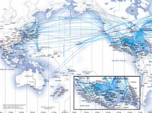 United Airlines Route Map Asia